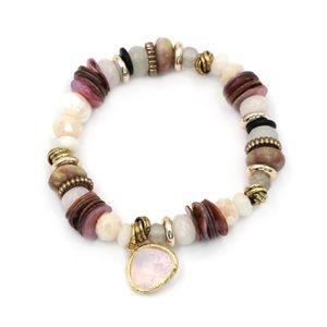 Pink natural bracelet